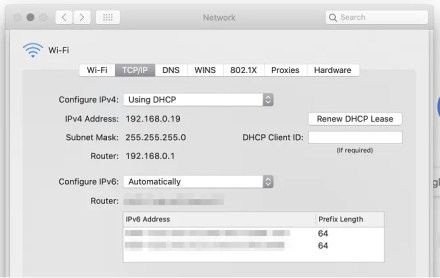 router ip address macos