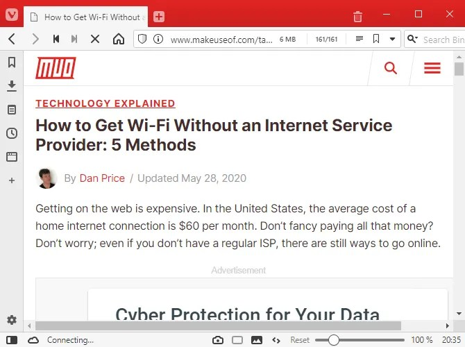 vivaldi browser 2020