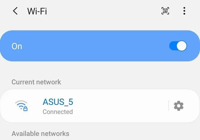 Настройки Wi-Fi Samsung Android