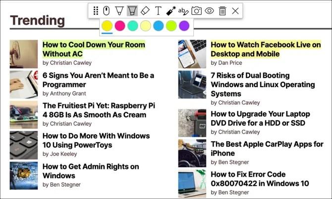 Аннотирование веб-аннотаций Скриншот Chrome