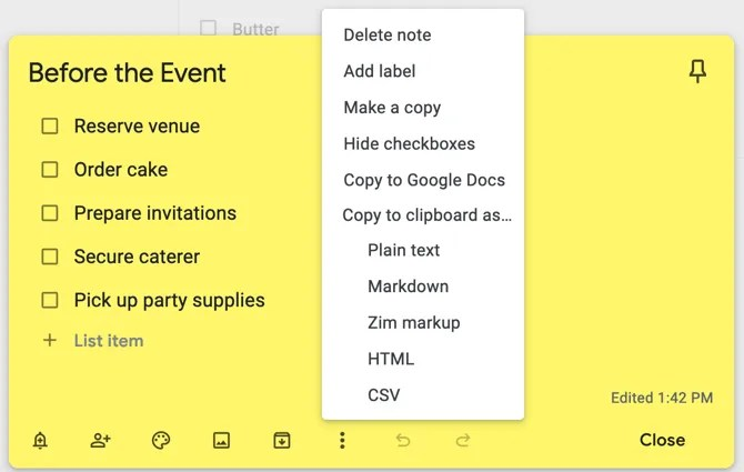 Google Keep To Clipboard для Firefox