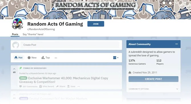 Random Acts Of Gaming