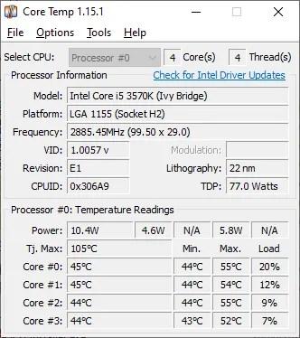 core temp temperature monitor tool