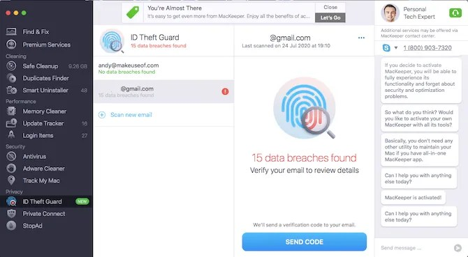 mackeeper id охранник от кражи