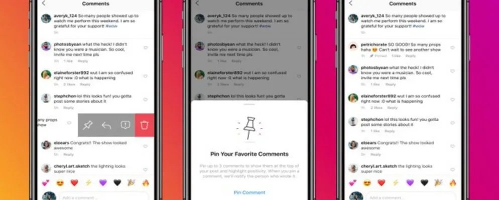You Can Now Pin Instagram Comments to Your Posts