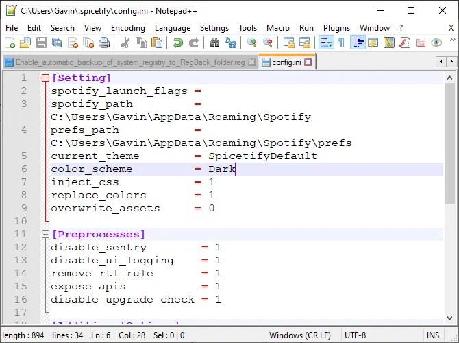 spicetify основной файл конфигурации