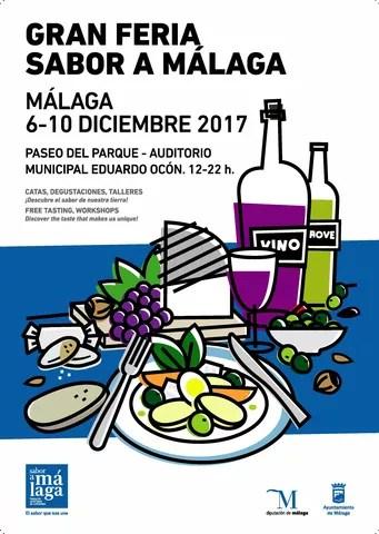 Cartel Gran Feria Sabor a Málaga