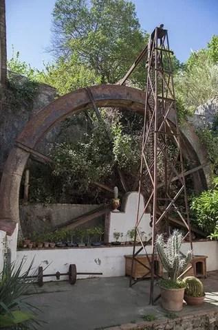 Rueda hidráulica en el Molino de San Telmo