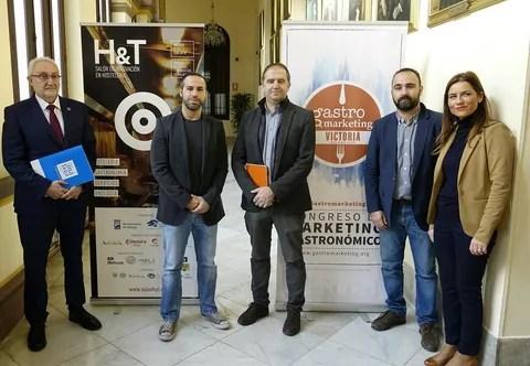 Ramón del Cid, Daniel Iglesias, Jose Cabello, Mario Cortés y Paula Morales RP Gastromarketing 17-01-18