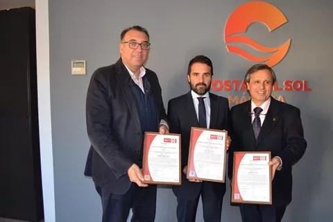 Turismo Costa del Sol recibe tres reconocidas distinciones que avalan la gestión de la empresa