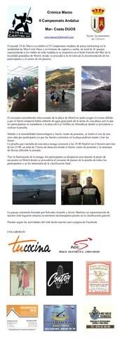 Cartel crónica Campeonato Mar Costa Dúos Pesca marzo 2018