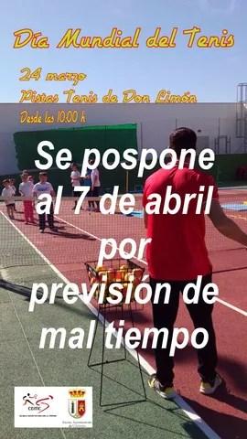 Cartel jornada lúdica Escuela de Tenis Día Mundial del Tenis cambio fecha 070418