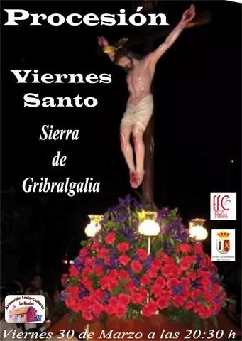 Cartel procesión Viernes Santo Sierra 2018