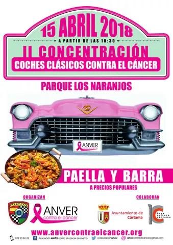 Cartel II Concentración de coches clásicos contra el cáncer 150418