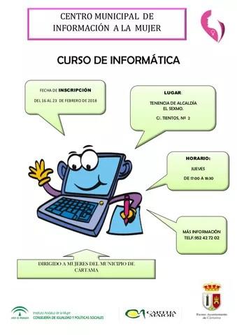 CARTEL CURSO INFORMÁTICA CMIM marzo 2018