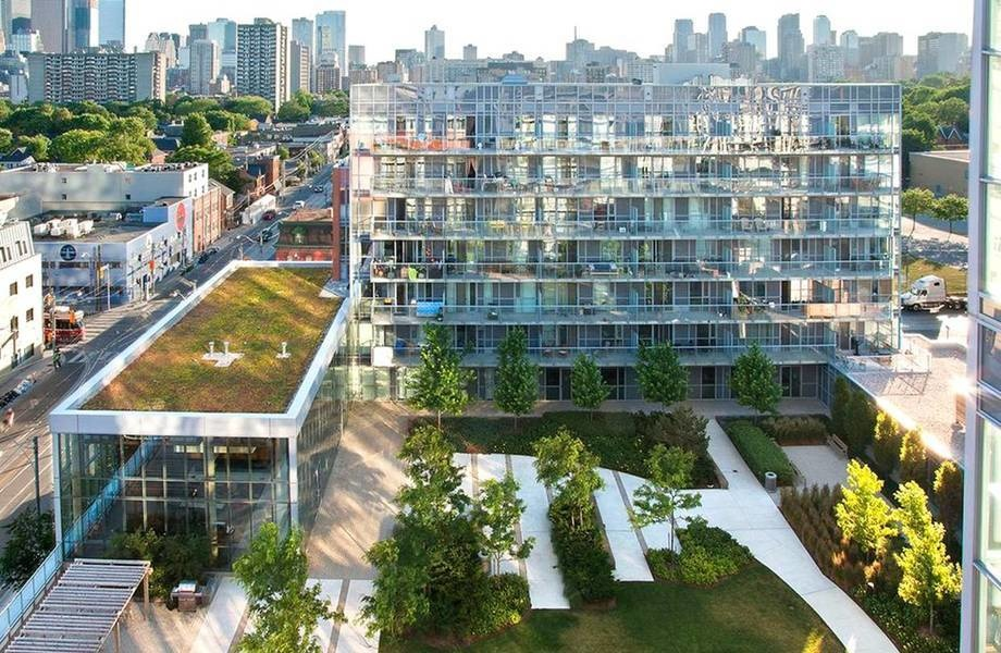 Sky Parks Offer Semi Private Green Space For Apartment