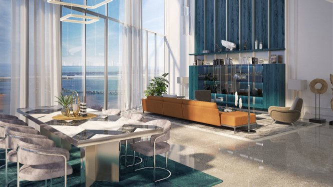 In Miami S Brickell Flatiron Building Gets 13 2m Mansion Global
