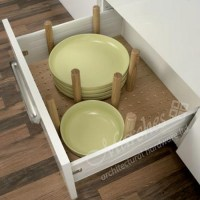 Plate stack drawer insert - Deep drawer inserts - Drawer ...