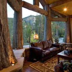 Cabin Style Living Room Home Lighting Design 47 Extremely Cozy And Rustic Rooms