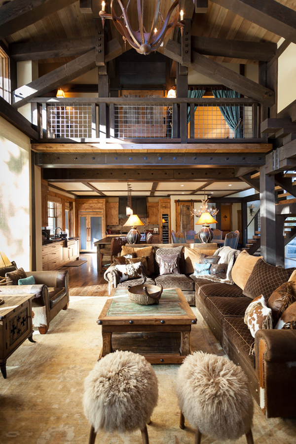Blending Texas Style with Mountain Rustic in Tahoe Austin Cabin