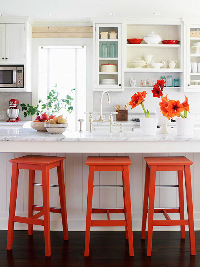 kitchen bar stools cabinets ft myers fl brilliant that add a serious pop of color