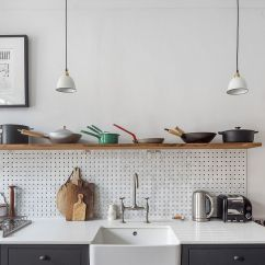 Kitchen Pegboard How To Clean Grease From Cabinets Ideas Transforming Storage Options And Saving Space