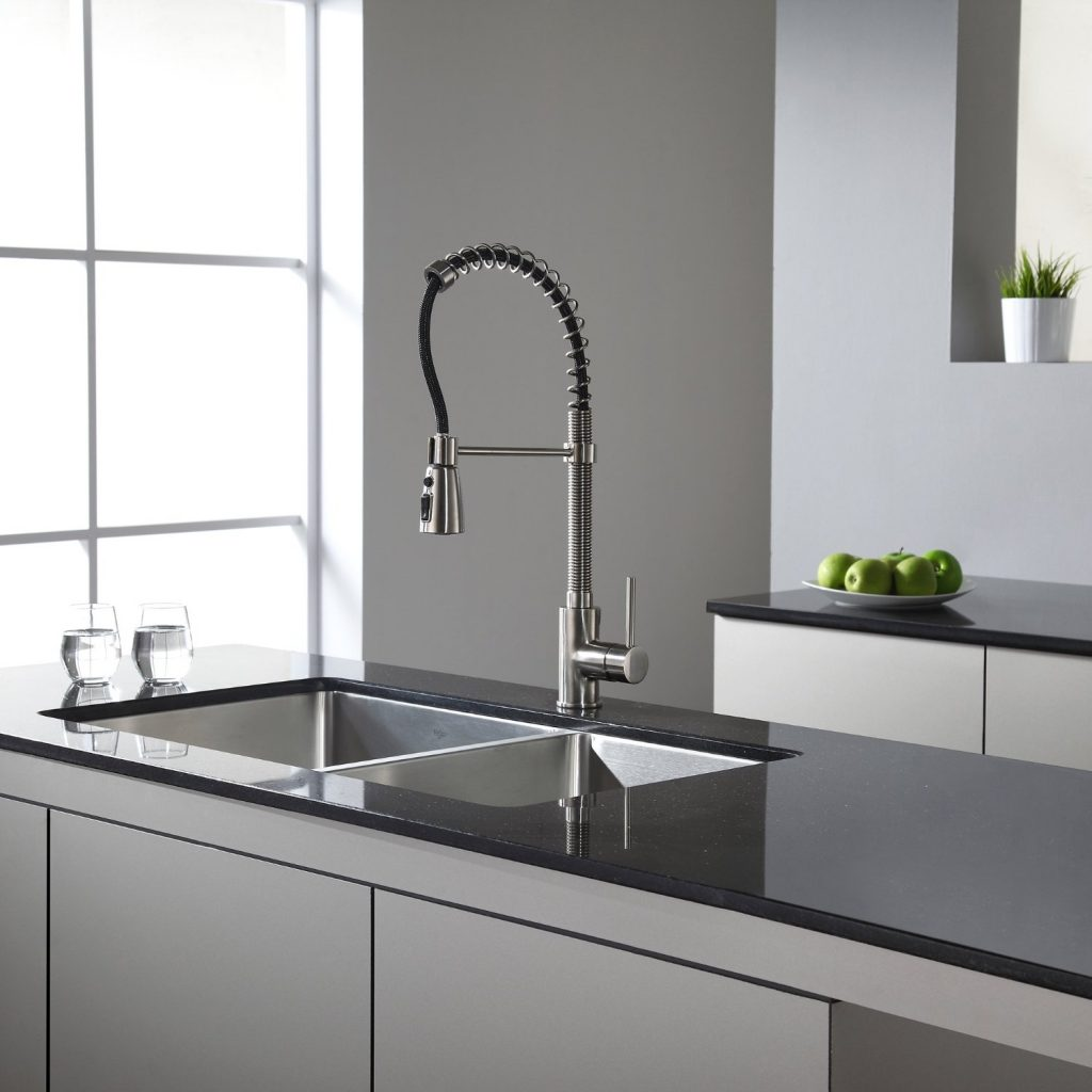 undermount double kitchen sink used cabinets for sale kraus khu102 33 5050 bowl