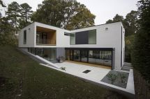 L-shaped Two-Story Houses Design