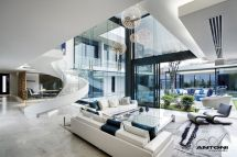 Inside Modern Mansions Living Rooms