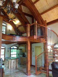 Precision Pine Spiral Staircase