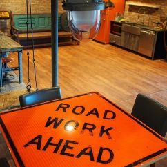 Industrial Living Room Furniture Red Couches Street Smart Style: Decorating Your Home With Road Signs