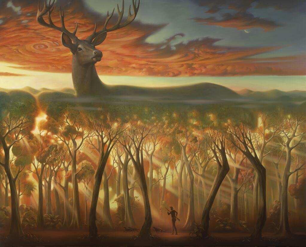 Cabins Paintings Oil Log