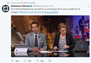 Les présentateurs de Televisa Carlos Loret de Mola et Denise Maercker © Clément Detry
