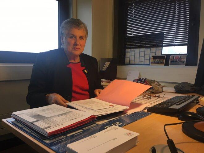 Marie Piqué, vice-présidente de la région Occitanie / Pyrénées – Méditerranée, en charge des solidarités, des services publics, de la vie associative et du logement © Julien Sueres