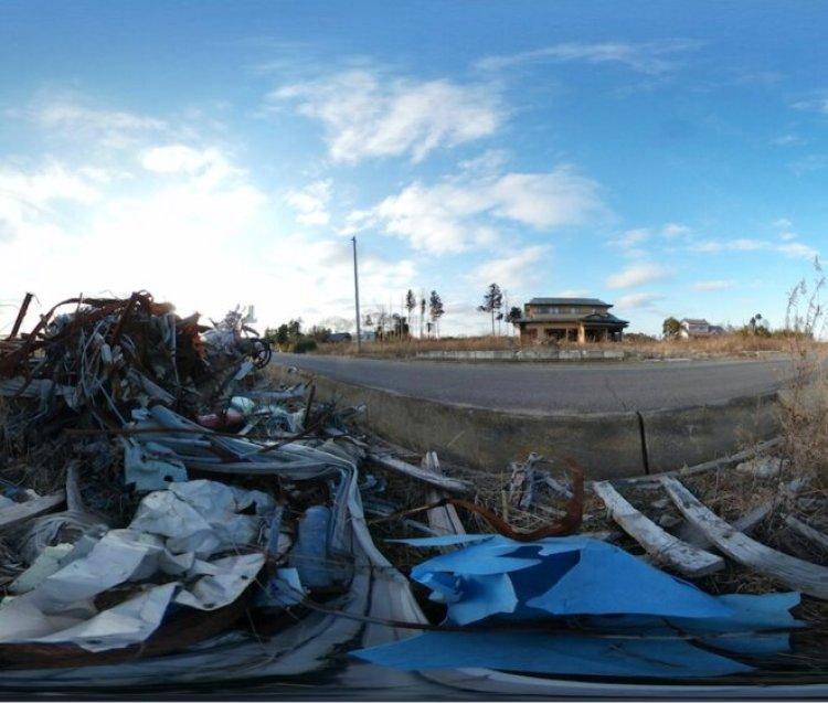 Un quartier déserté de la ville balnéaire de Namie, évacuée pendant la catastrophe nucléaire de Fukushima, le 28 février 2017 (Reuters).