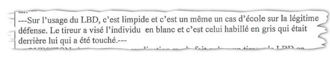 Audition d'un commandant de la Bac légitimant le tir de LBD par l'un de ses brigadiers sur un lycéen, gravement blessé à la mâchoire le 4 décembre 2018 à Marseille.