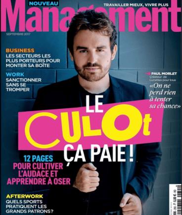 «Nouveau Management» de septembre 2017, avec Paul Morlet en couverture.