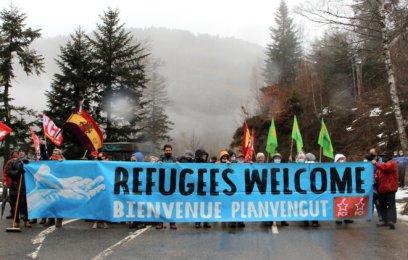 Rassemblement au col du Portillon vendredi 29 janvier. © ER