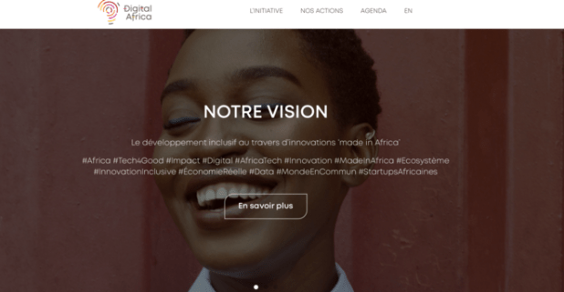 Le site de Digital Africa. © Capture d'écran