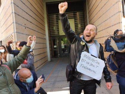 Frédéric Vuillaume, à sa sortie du tribunal de Dijon, le jeudi 20 mai 2021. © GC