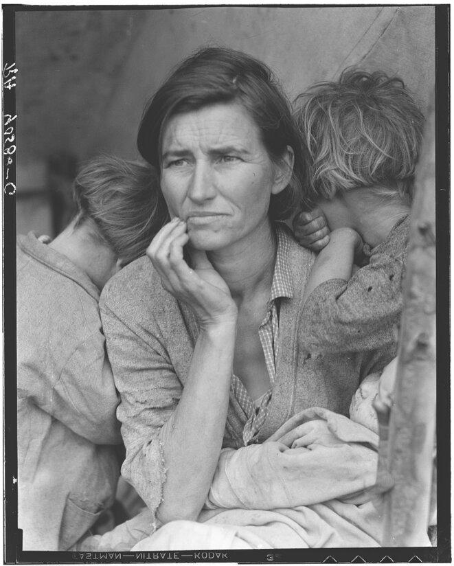 La Mère migrante. © Dorothea Lange / Library of Congress