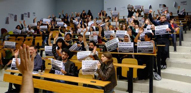 Assemblée générale à l'université Toulouse II, le 16 avril 2015.
