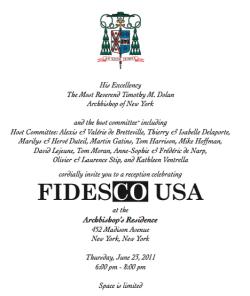 L'invitation de l'archevêque de New York