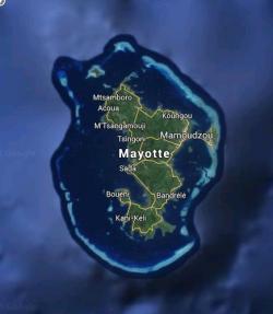 Le lagon de Mayotte.