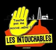 """Logo de l'association """"Touche pas à ma roche-mère"""""""