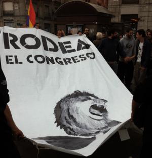 Au début de la manifestation à Madrid.