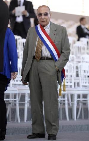 Serge Dassault, le 14 juillet 2013, à la Bastille (Paris).