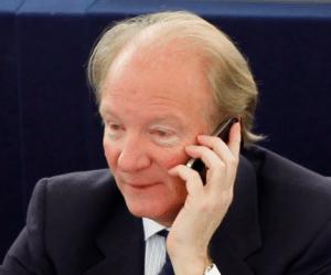 Brice Hortefeux au Parlement européen.