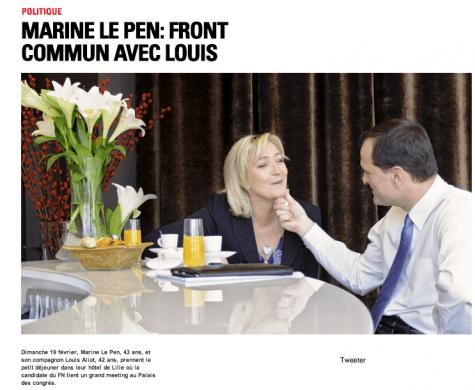 Article paru dans Paris-Match, le 26 février 2012.