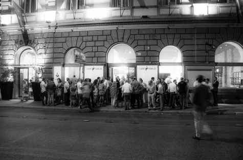 Lors de l'ouverture du Carré français, à Rome, en juillet 2015.